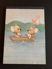 Vintage Rag Tag Teddies in a canoe Sangamon Tablet Ruth Morehead