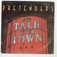 "PRETENDERS Vinyle 45T 7"" TALK OF THE TOWN - CUBAN SLIDE -REAL Records 63810 RARE"