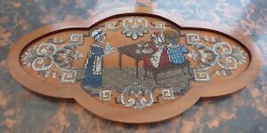 VICTORIAN BEADWORK TEAPOT  STAND  THE TEA PARTY  FREE  SHIPPING TO ENGLAND