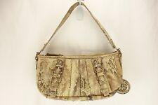 JESSICA SIMPSON Beige Brown Animal Print Gold Hardware Shoulder Bag Purse Womens