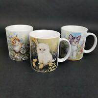 Vintage Cat Mugs Lot of 3 Kitten Coffee Cups