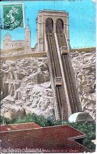 Carte postale, MARSEILLE, L'ascenseur de Notre Dame de la Garde, écrite.