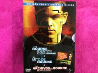 THE BOURNE IDENTITY 3 DVD AL CASO BOURNE EL MITO DE BOURNE LOS ARCHIVOS DE BOURN