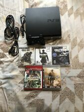Sony PlayStation 3 PS3 Slim Console Bundle CECH-2001A 5 Games Great Shape!