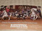 Vintage Resistol Advertising Poster Roping Team Mike Brandon Beers #2