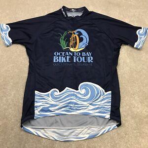 Voler Cycling Jersey Men's 2XL Race 3/4 Zip Short Sleeve Blue Ocean to Bay Tour