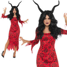 Occult Devil Costume Halloween Womens Ladies Fancy Dress Outfit