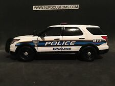 Vineland Police NJ 1:24 Scale Ford Explorer SUV Police Replica