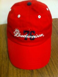 Budweiser 76 Anheuser-Busch Hat Baseball cap strapback adjustable embroidered