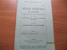 Revue Médicale de Louvain N°5 1933 Un cas de goître lingual