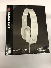 MONSTER PURITY HD ON EAR HEADPHONE-White NEW IN BOX On Ear Headset