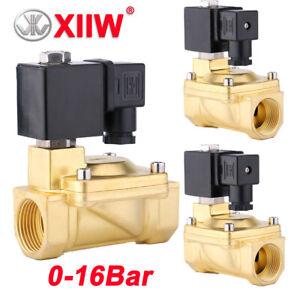 """2Wege AC 230V N/C Magnetventil Messing G 1/2"""" 3/4"""" Elektrisch Wasserventil 16BAR"""