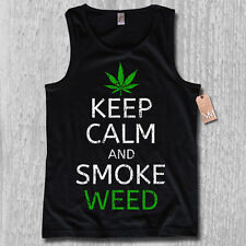 Tank Top - KEEP CALM AND SMOKE WEED - KULT Cannabis legalize S M L XL XXL