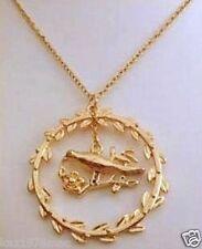 Costume Gold Coloured Birdi Circle Necklace BRAND NEW