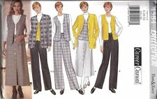 4584 Uncut Vintage Butterick Sewing Pattern Skirt Pants Jacket Vest Ff Oop New