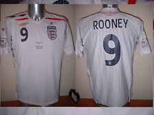 Inglaterra Rooney grandes 08 Camisa Jersey Football Soccer Umbro Man Utd Copa Mundial 9