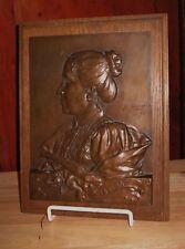 Antique Bronze Medal Sculpture Plaque George Dupre