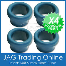 4 x BLUE NYLON ROD HOLDER INSERT PROTECTORS - Fishing Bait Board/Rocket Launcher