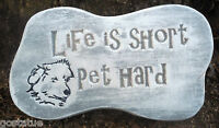 Dog pet plaque mold garden ornament stepping stone mould