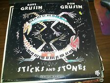 Dave Grusin-Don Grusin-Sticks And Stones-LP-Promo White Label-Vinyl Record-VG+