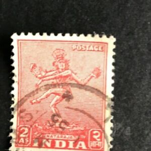 Rare India Stamp - 2 Anna Stamp Good Condition