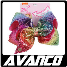 JoJo Siwa Large Rainbow Sequin Signature Hair Bow. Huge Saving