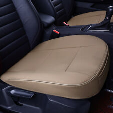 1x Universal Beige Breathable PU leather DeluxeSeat Cushion Car Front Seat Cover