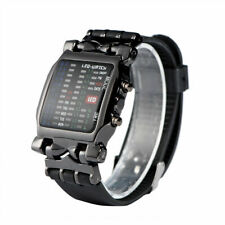 Fashion Mens Military Sports LED Watch Leather Band Date Dial Outdoor Wristwatch