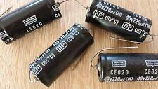 ELKO Electrolyt KONDENSATOR 220uF 40V  D19x41mm axial  Set mit 4 Stück BIPOLAR