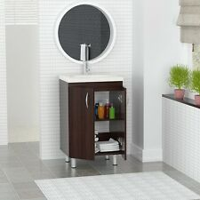 Bathroom Vanity Cabinet and Sink Combo Small 18 Inch Modern Espresso Finish
