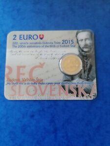 Coincard 2 euros BU SLOVAQUIE 2015