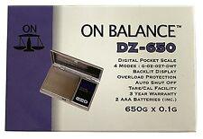 A conti fatti DZ - 650 Tasca DIGITALE ELETTRONICO SCALA portatile 650g/0.1g LCD BLU