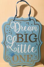 Baby Boy Room Blue Inspiring Art Quotes Decor Natural Wood 11� Tall