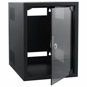 "8U SOHO MINI 10"" DATA SERVER COMMS AV OFFICE RACK  + 12 PORT 10"" CAT5E UTP PANEL"