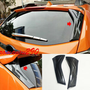 For Subaru Crosstrek 2018-2021 Carbon Fiber Look Rear Window Triangle Cover Trim