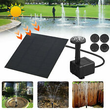 1/2/4Pack Solar Power Fountain Water Pump With Filter Panel Pond Garden Decor Us