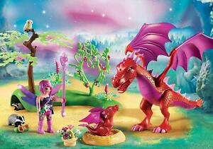 Playmobil Friendly Dragon with Baby Building Set Toy DEALS