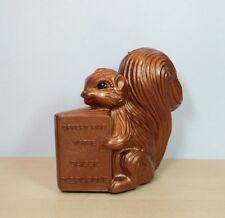 Rare tirelire Caisse d'Epargne écureuil Brun Vintage banque  Marque déposée Ex E