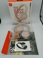 JBL Pure Bass Zero Cables Wireless Bluetooth Headphones Tune 500BT  Pink