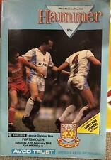 West Ham United v Portsmouth 13/02/88 programme