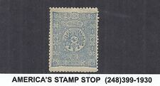 1892 Turkey SC 97 Arms and Tughra of El Gazi - 1pi Pale Blue - MH*