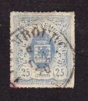 Luxembourg stamp #22, used, rouletted with color, 1865 - 1874, SCV $11.00