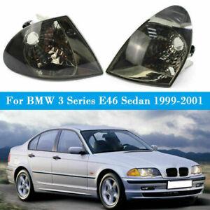 Pair Euro Crystal Corner Lights Signal Lamp For BMW 3 Series E46 Sedan 99-01