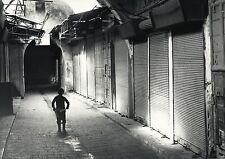Scène de vie ,  grève au Bazar de Jérusalem 1990
