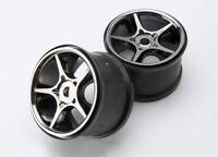 "Traxxas 5372X Gemini Black Chrome 3.8"" Wheels 17mm Splined Hex Revo 3.3 E-Revo"