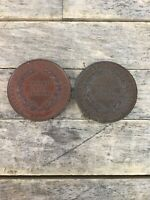 Pair Of Universal Cookery & Food Exhibition 1895 Medal Medallions.