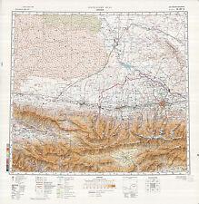 Russian Soviet Military Topographic Maps - FRUNZE/BISHKEK (Kyrgyzstan), ed.1988