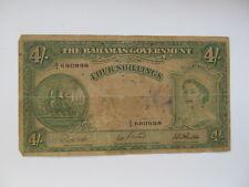 4 SHILLINGS  BRITISH COLONY OF BAHAMAS