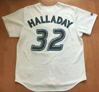 BONUS! GENUINE XL ROY HALLADAY Toronto Blue Jays Jersey - 2019 MLB Hall of Fame