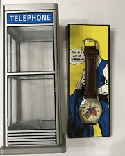 RARE Superman Fossil Watch - Original Package Phone Booth